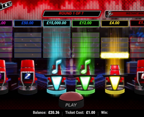 Image Of The Voice Instant Win Card Game